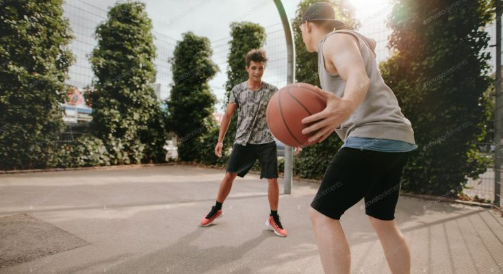 standing basketball backboards